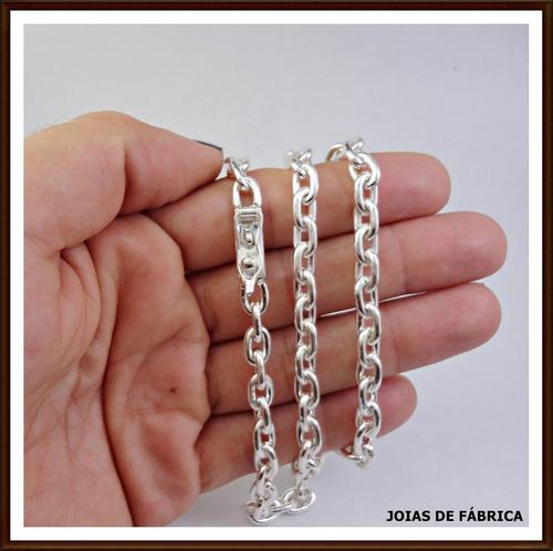 cordão e pulseira cadeado em prata 950. 73g  frete grátis.