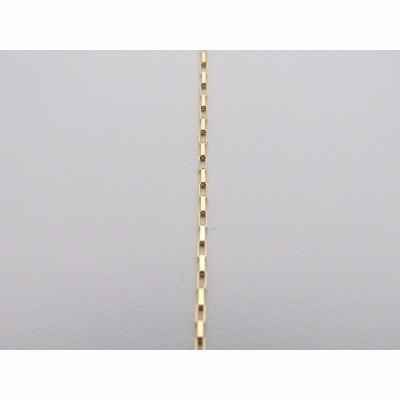 cordão elo quadrado 70cm em ouro 18k-750