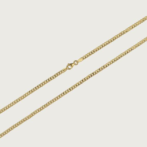 cordão em ouro 18k masculino gourmett  60cm 4,7gr