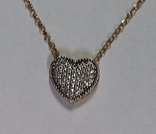 cordão em ouro com pingente  coração