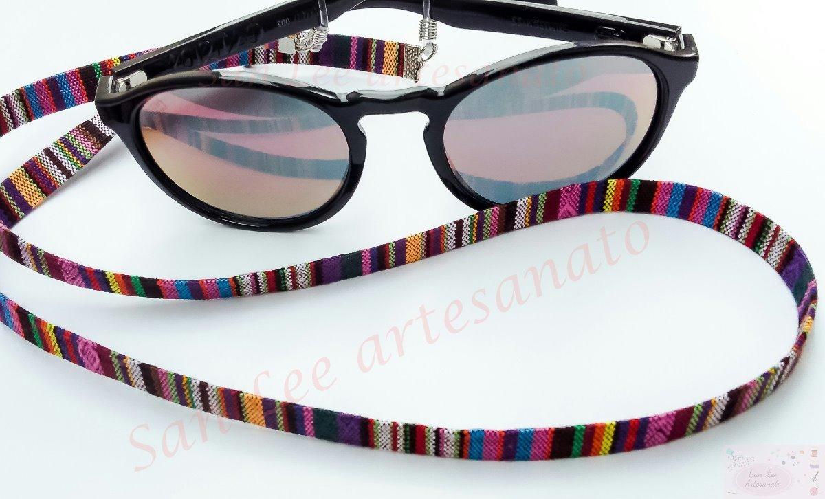 7fe300f757cc9 cordão étnico segura óculos salva óculos roxo colorido. Carregando zoom.