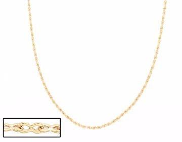 cordão feminino rommanel fio fino folheado 18k med. 50cm -