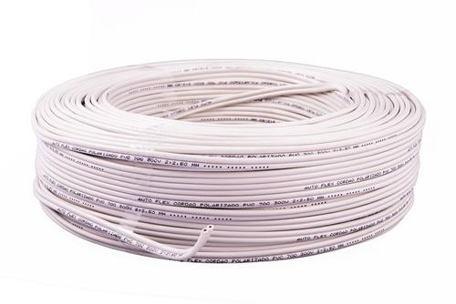 cordão fio cabo paralelo flexível branco 2x4,0mm rolo 100mts