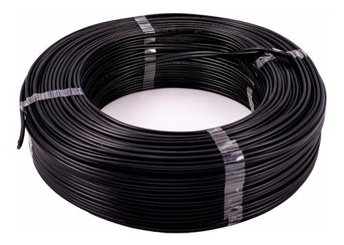 cordão fio cabo paralelo flexível preto 2 x 1mm rolo 100mts