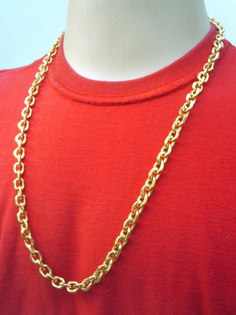 32e4f5ecd6f cordão grosso cartier 70cm masculino folheado à ouro 18k. Carregando zoom.