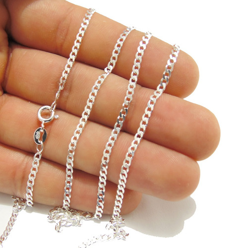 cordão grumet corrente prata masculina escama fina 60cm + ki
