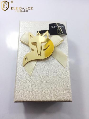 cordão laminado masculino folheado a ouro + pingente