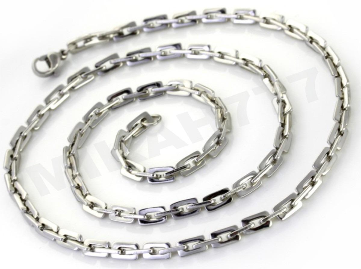 e60ce4e2d3b cordão masculino aço cirúrgico antialérgico 3mm 80cm prata. Carregando zoom.