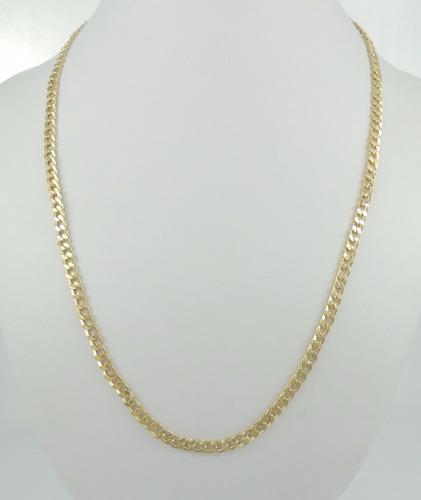 cordão masculino grumet 60 cm fecho gaveta ouro 18k 750