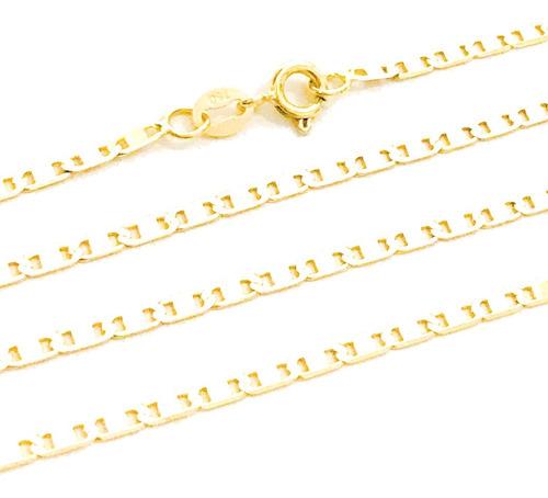 cordão masculino piastrine 60cm 1,80mm ouro 18k