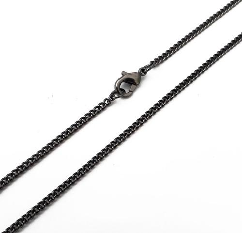 cordão masculino pingente 10 dez mandamentos crucifixo 70 cm