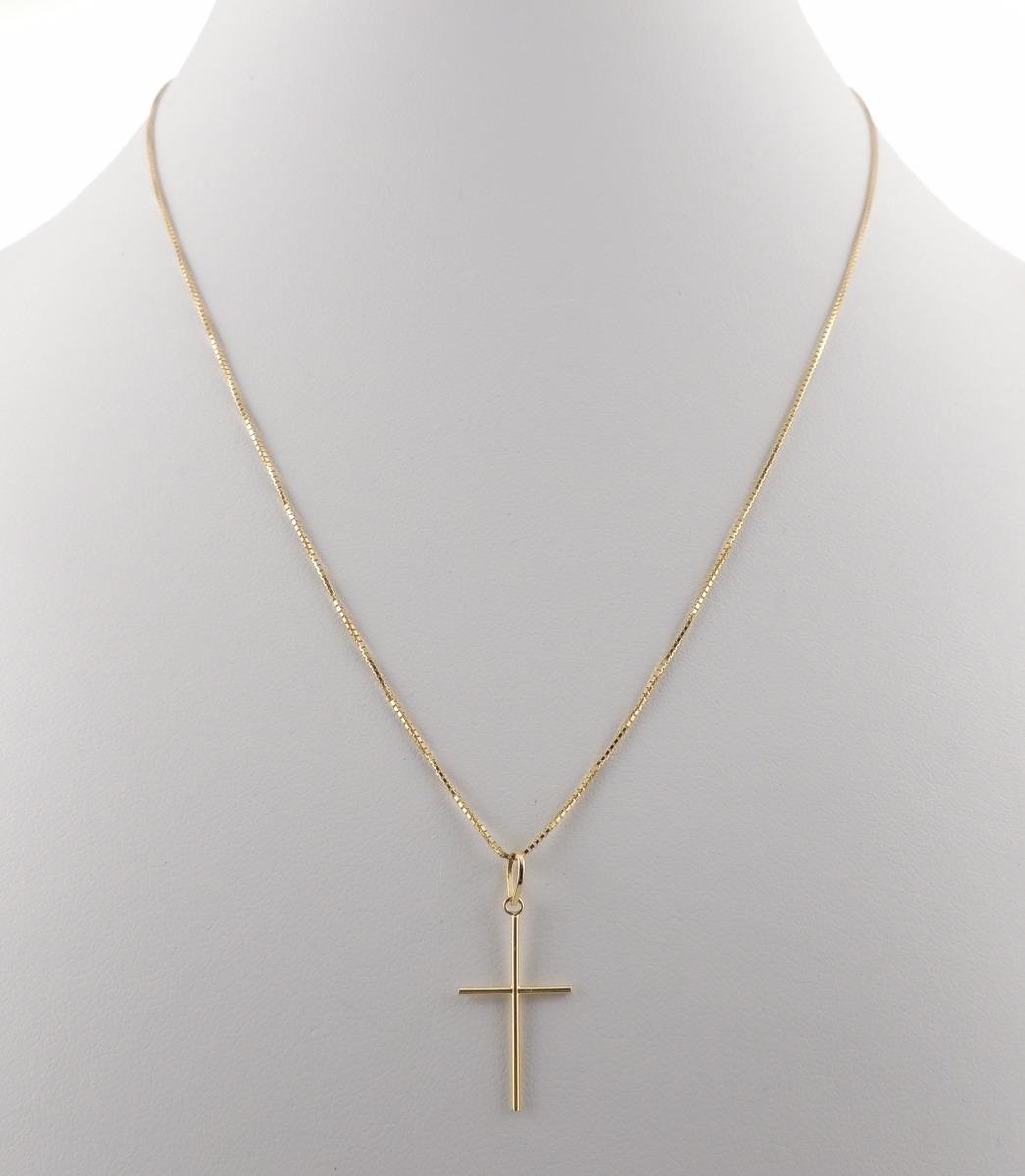 38bbbe8d2a4 cordão masculino veneziana + pingente crucifixo ouro 18k 750. Carregando  zoom.