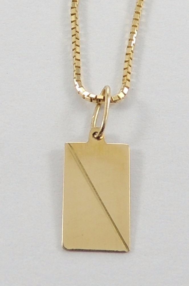 cordão masculino veneziana + pingente placa nome ouro 18k750. Carregando  zoom. babd2dc293