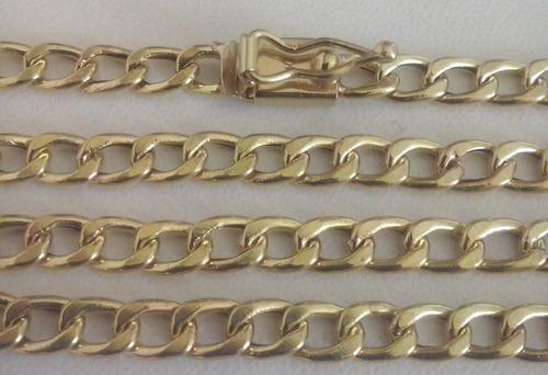 cordão  modelo batido (groumet) em ouro 18k 750