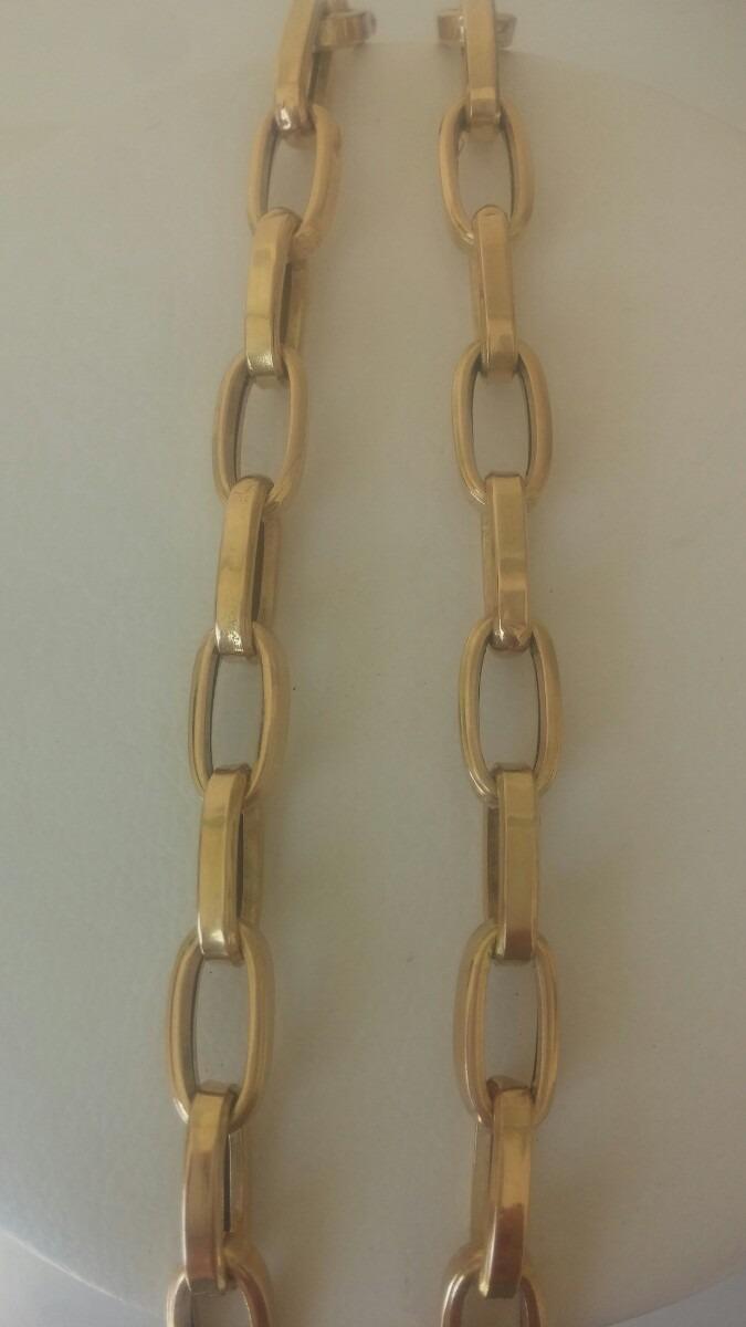 efb752e2606 cordão modelo cartier quadrado (oco) em ouro 15gr 18k . Carregando zoom.