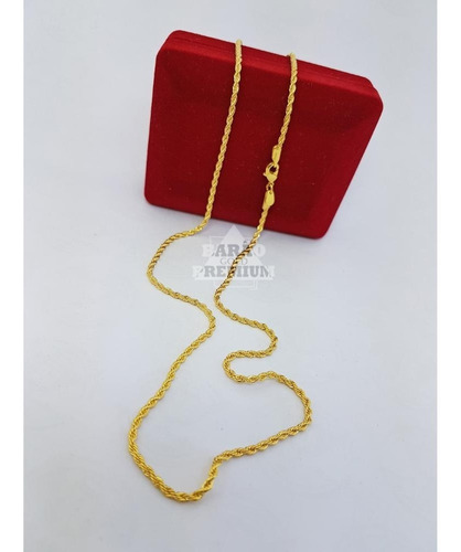 cordão modelo corda 45cm + medalha espírito santo