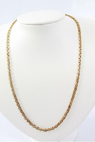 cordão modelo  direito esquerdo (oco). em ouro 18 kl 750