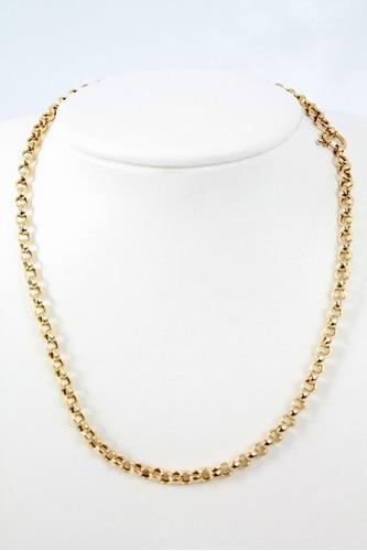 cordão modelo  ello portugues (oco). em ouro 18 kl 750