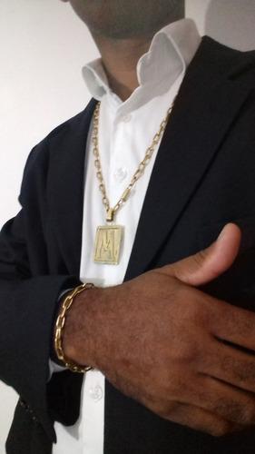 cordão moeda antiga corrente pingente pulseira cadeado 8mm