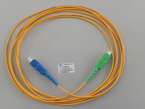 cordão óptica sc/apc x sc/upc sm 5 metros fibra 2.0mm