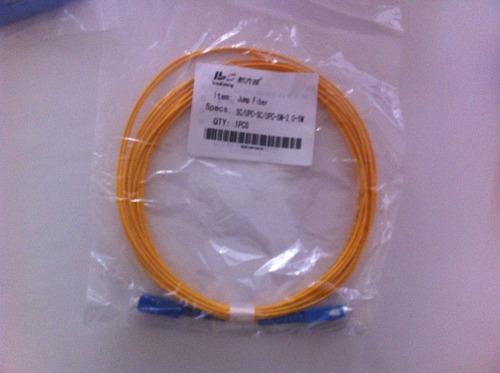 cordão óptica sc/upc x sc/upc sm 1 metros fibra 2.0mm 1 un