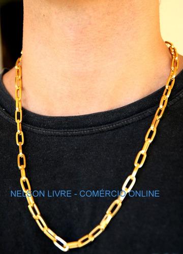 cordão + placa letra + pulseira banhados a ouro