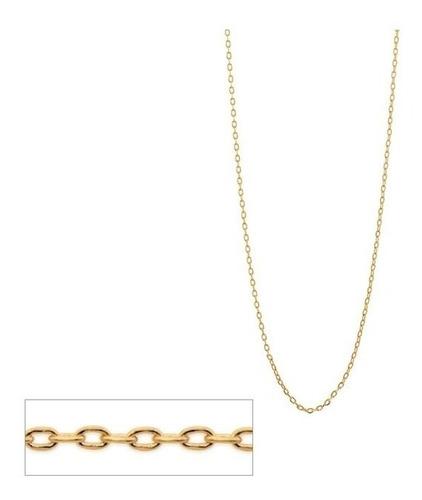 cordão rommanel 50 cm feminino cadeado fol ouro 18k  531639