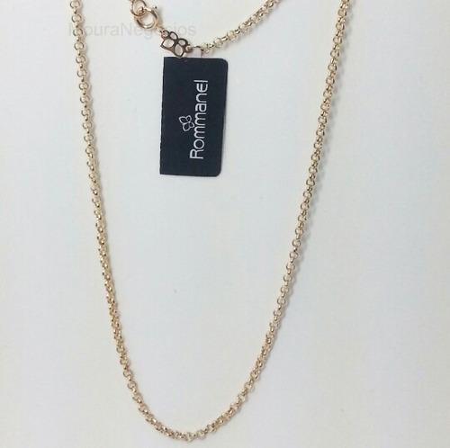 cordão rommanel elo português medio 42 cm 530609
