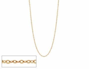 cordão rommanel feminino fio 0,20 cadeado med 42cm 531664 -