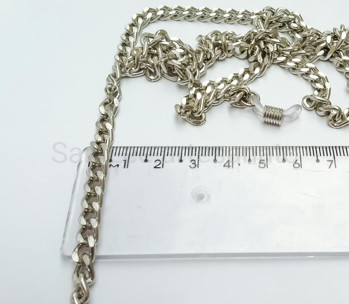 cb3d7c5e3d58 cordão segura óculos/salva óculos corrente prata 5mm. Carregando zoom.