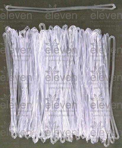 cordão transparente / alça tag bagagem silicone (1.000 unid)
