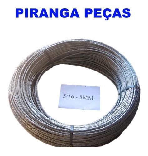 cordoalha curral 5/16(8mm) 100metros  (piranga pçs)