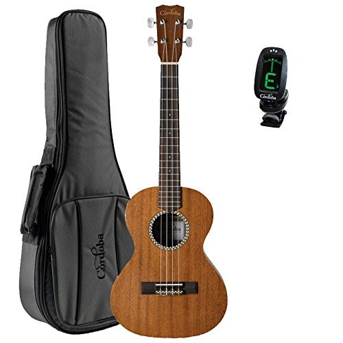 cordoba 20tm tenor ukulele guitarvault paquete con cor...