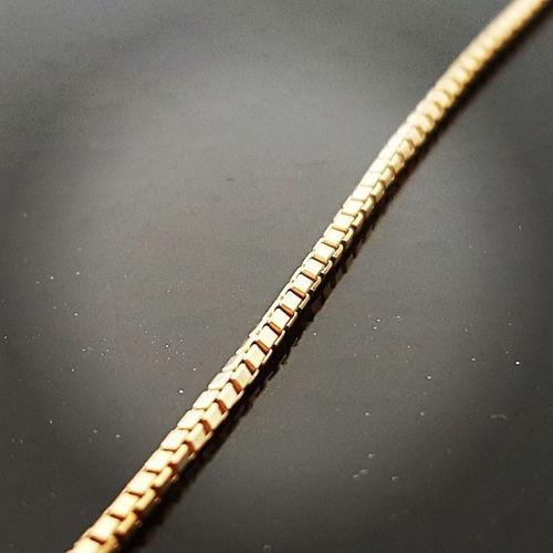 cordão/corrente masculina veneziana de ouro 18k - 60 cm