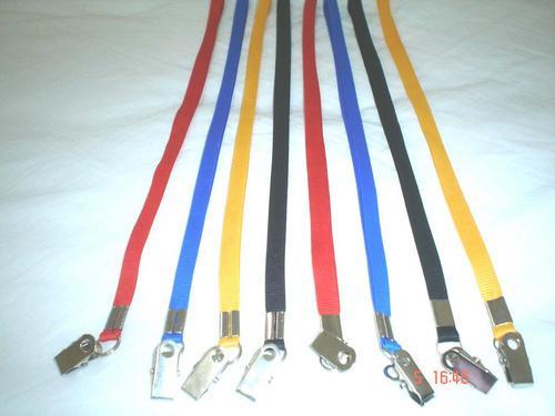 cordões coloridos para crachás 10 mm (100 pçs.)
