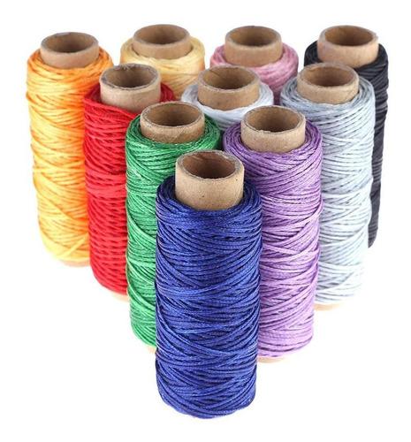 cordón de cuero costura cera hilos arte diy mano costura d