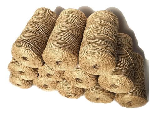 cordón de yute, colores y natural, para decoración