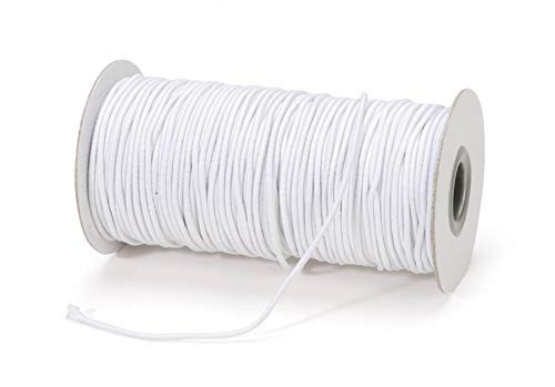 cordón elástico blanco de darice - tamaño de 2 mm perfecto
