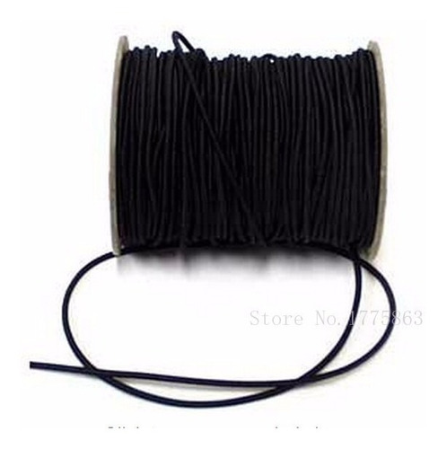 cordon elastico redondo 2,5mm en rollo de 100 mts