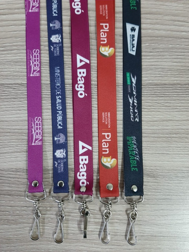cordón identificación, cinta credenciales, full color 0,65 $