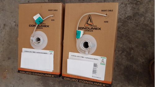cordón marfil condumex  icev-3 1 par 22 awg lineas interior