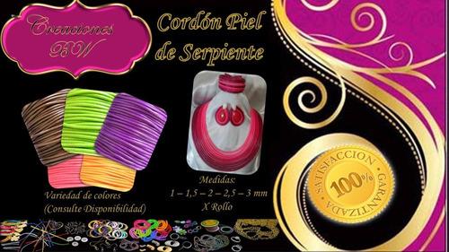 cordón piel de serpiente 3mm  (materiales para bisutería)