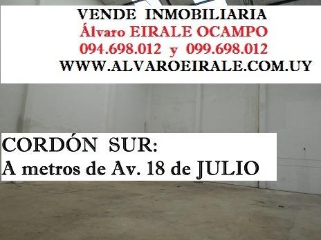 cordón sur: local 750 m2* ideal parking