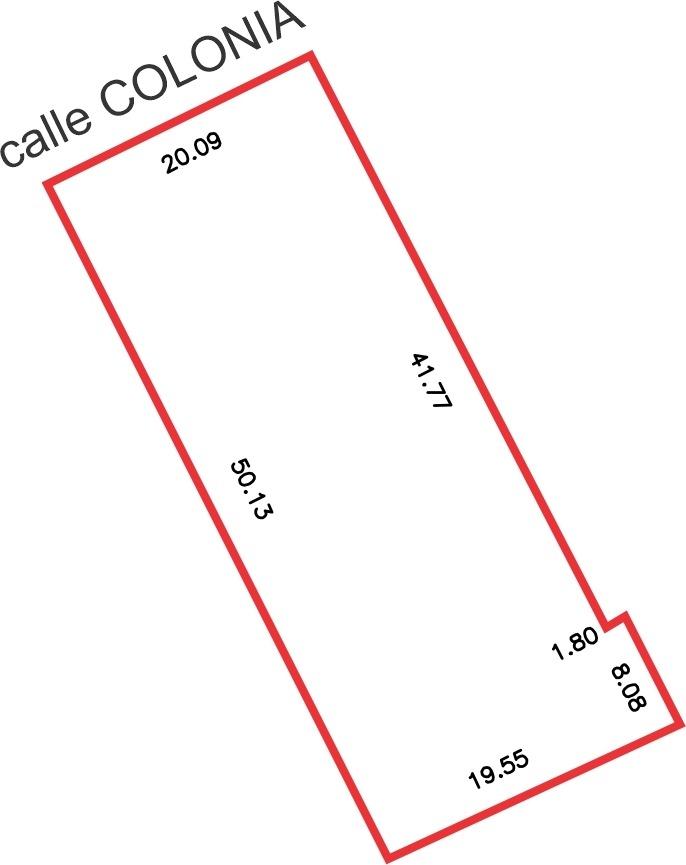 cordón - terreno de 987 m2  - 27 m. altura + galibo