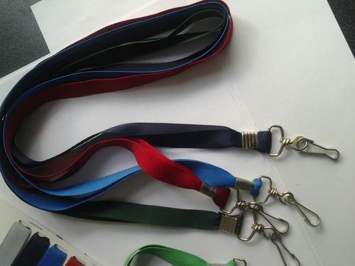 cordones collarines porta credenciales pvc las 12 unidades