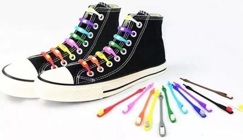 cordones elásticos zapatillas silicona colores- eshopviña