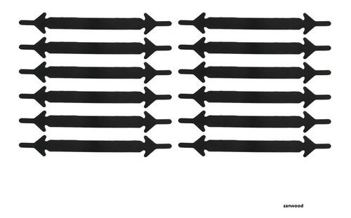 cordones elásticos zapatillas  silicona colores negro blanco