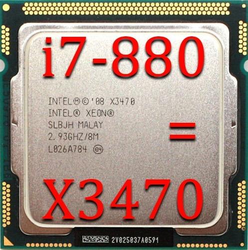 core i7 870 = x3470 quad core 3.60ghz 1156 o melhor!