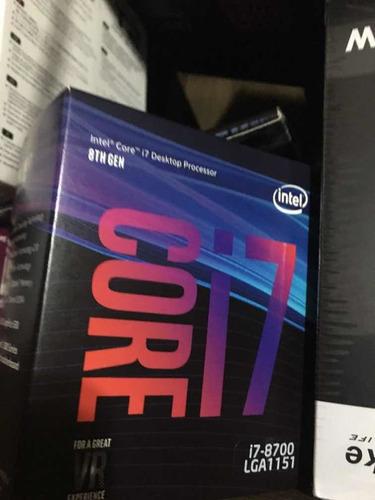 core i7 8700 + 16gb ddr4 2400ghz + ssd nvme 512 gb m2