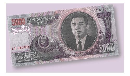 corea del norte - billete de 5000 won 2006 ¡ sin circular !